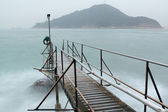 Hong kong Swimming Shed in sea — Stock Photo