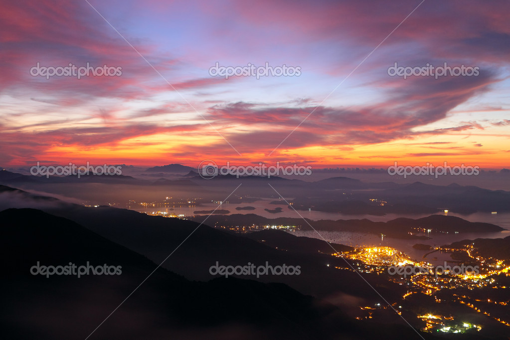 Sunset in the mountains — Stock Photo #9467153