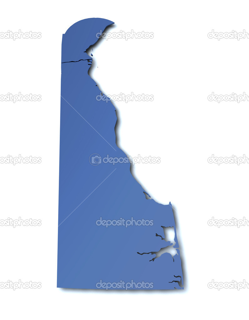 Map of Delaware - USA — Stock Photo #9367664