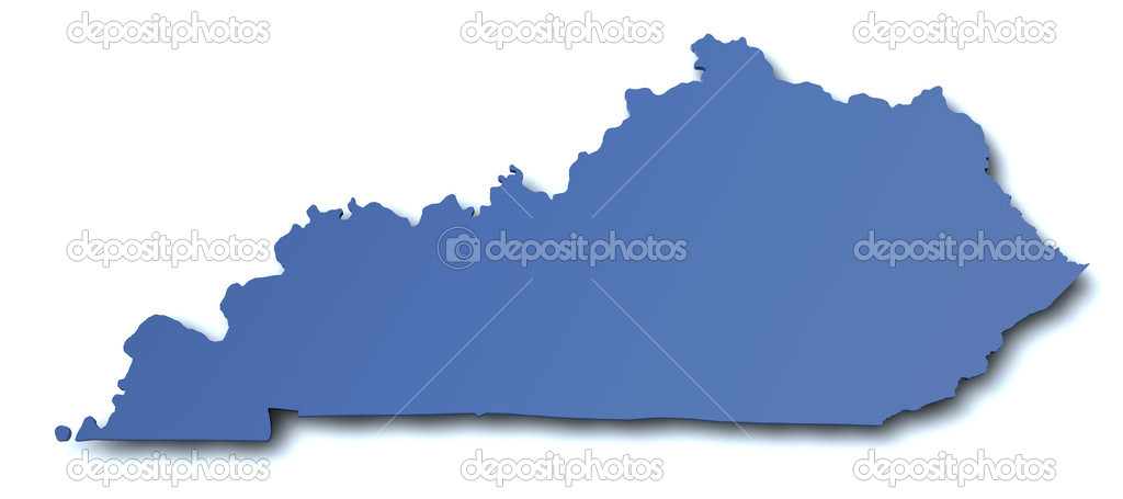 Map of Kentucky - USA  Stock Photo #9367700