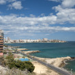 View of Playa De Albufereta, Alicante — Stock Photo