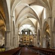 Nave inside Valencia Cathedral — Stock Photo