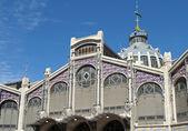Main entrance to the Central Market Valencia — Stock Photo