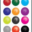 VECTOR DRAWING ICONS BALLS — Stock Vector