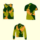 Camouflage clothing — Vector de stock