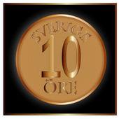 Moneda de oro con — Vector de stock