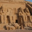 Abu Simbel colossus — Stock Photo