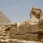 Pyramids and Sphinx — Stock Photo