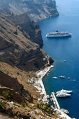 Santorini seaport — Stock Photo