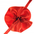 Red fabric flower — Stock Photo