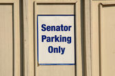 Senator park only sign — Stock Photo