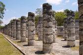 1000 pillars at Chichen Itza site — Stock Photo