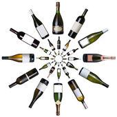 Vini bottiglie — Foto Stock