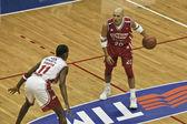 Basketball game in Milan — Stock Photo