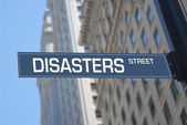 Disasters street — Stock Photo