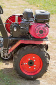 Engine of cultivator — Stock Photo