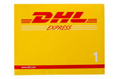 DHL Express package — Stock Photo