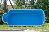 Plastic form of the pool — Stock Photo