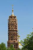 Bouw van de bell tower — Stockfoto