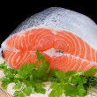 Red fresh trout — Stock Photo