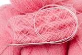 Pink mohair — Stock Photo