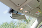 Car rearview mirror — Stock Photo