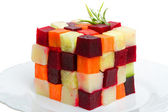 Vegetables cube — Stockfoto