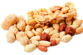 Nuts and sorbet — Stock Photo