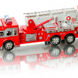 Miniature fire truck - Stock Photo