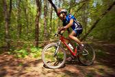 Górski rower konkurencji — Zdjęcie stockowe