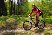 Competencia de bicicleta de montaña — Foto de Stock