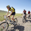 Adventure mountain bike maranthon in desert mountains - Stock Photo