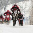 Winter motocross - Stock Photo