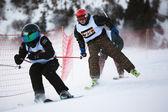 Kış kayak ve bordercross yarışması — Stok fotoğraf