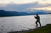 Fishing in Mongolia — Stock Photo