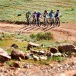 Adventure mountain bike competition — Stockfoto