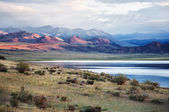 Shatsagay nuur lake in mongolia — Stock Photo