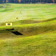 Driving range ongolf course - Stock Photo