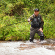 Stock Photo: Fly-fishing