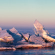 Ice hummocks on the Lake Balkhash, Kazakhstan — Stock Photo