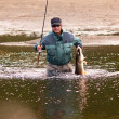 Fishing in Mongolia — Stockfoto