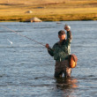 Foto de Stock  : Fly fishing in Mongolia