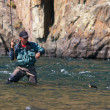 Fly fishing in Mongolia — Stock Photo #9113791