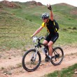 Spring adventure mountain bike competition — Stock Photo #9140047