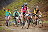 Adventure mountain bike competition — Stok fotoğraf