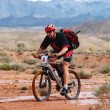 Adventure mountain bike  marathon in desert - Stok fotoğraf