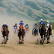 Bayga - traditional nomad horses racing — ストック写真