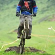 Постер, плакат: Extreme mountain bike downhill contest