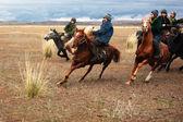 Kokpar gioco tradizionale nomade — Foto Stock