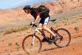 Dobrodružství mountain bike maraton v poušti — Stock fotografie